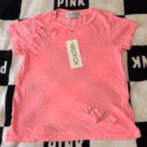 Coral NWT WIldfox Tee size XS